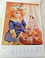 "Poster French Antique Doll Rabery & Delphieu Paris c 1890 Georgi  18 1/2"""