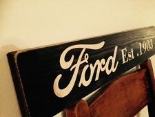 Ford sign Vintage Old Look GARAGE Christmas GIFT DAD Vintage Wooden Hand Made