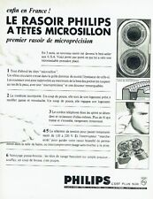 Publicité Advertising 067  1964  Philips  rasoir à tete microsillon