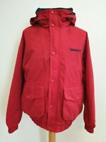 I323 MENS TIMBERLAND RED BOMBER HOODED JACKET UK SMALL S EU 48