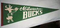Milwaukee Bucks NBA Vintage 1970's Basketball Full Size Pennant *Excellent Cond*