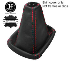 RED STITCH TOP GRAIN REAL LEATHER MANUAL GEAR GAITER FOR AUDI A4 B5 1995-2000