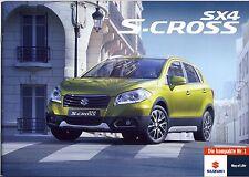 Suzuki SX4 S-Cross 01 / 2014 brochure catalogue swiss