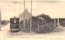CPA 62 WIMEREUX LE MONUMENT DU BALLON ET LE TRAMWAY DU GOLF (GROS PLAN