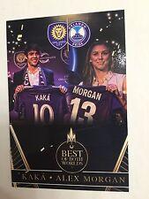 KAKA & ALEX MORGAN 2016 Custom Soccer Card Orlando City SC & Orlando Pride