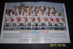 1976 PHILADELPHIA PHILLIES Large Team Photo SCHMIDT Cash BOWA Maddox LUZINSKI