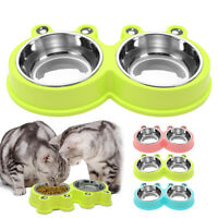 Dog Bowls Set Stainless Steel Puppy Cat Small Pet Double Food Feeder Water Dish