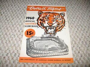 DETROIT TIGERS 1960 SCOREBOOK VS BOSTON RED SOX---BRIGGS STADIUM