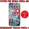 Cover case custodia protettiva in tpu per Nokia Lumia 630 fantasia FIORI ROSSI