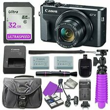 Canon PowerShot G7 X Mark II Digital Camera with 32GB SD Memory Card +More