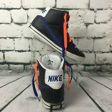 Nike Sweet Classic High Men's 10 Shoes Black Deep Royal White Orange Blue Laces