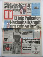Bild Zeitung vom 6.11.1987, Vera Tschechowa, Michael J. Fox, Shere Hite,