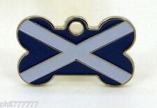 La Cruz ~ bandera nacional de Escocia ~ Small Pet etiquetas de identificación