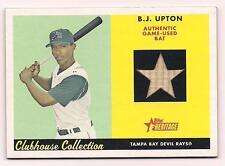 2007 Topps Heritage B.J. Upton Bat Card Tampa Bay Devil Rays