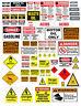 1: 18 1:24 WARNING SIGN DECALS FOR DIECAST GARAGE  & DIORAMAS