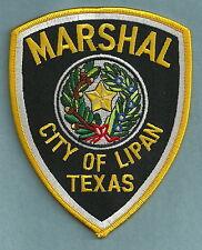LIPAN TEXAS MARSHAL POLICE PATCH
