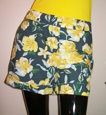 Women's JOE FRESH Green/Yellow Floral Casual Shorts~~Size 4~~NWT