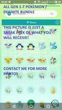 ALL GEN 1-7 Pokemon Definitive Bundle // Sword Shield HOME Legendary Shiny 6IV