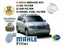 FOR SSANGYONG RODIUS 2.7TD 2005-2014 NEW OIL AIR FUEL (3) FILTER SERVICE KIT