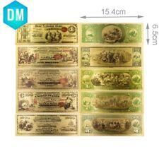 5pcs 1875 american 24kt gold banknote quality US color paper money souvenir gift