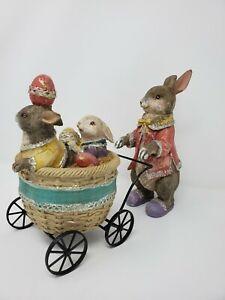 Easter bunny pushing basket by RAZ Imports  New
