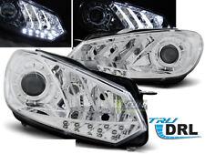 Coppia di Fari Anteriori LED DRL Inside per VW GOLF 6 VI MK6 2008-2012 Cromati I