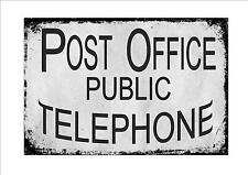 Vintage Post Office Reproduction Sign Retro shop sign post office sign