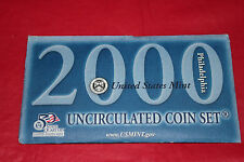 2000 Philadelpia Mint Uncirculated Coin Set with 50th State Quarters