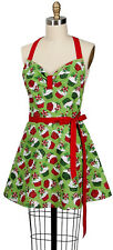 Embellished Kitchen Girlie Apron Holiday Cupcakes