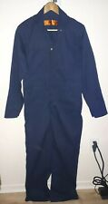New Red Kap Work Coveralls (34-RG) Blue Zippered 2 Top Snaps