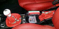 Alfa Romeo MITO CUFFIA CAMBIO e FRENO in PELLE ROSSA con striscia Italia di seta