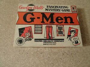 Vintage G-men Mystery Card Game Milton Bradley Carolyn Wells Complete