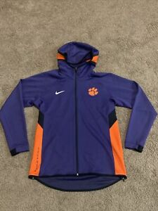 New W/out Tags Nike Clemson Purple Orange Full Zip Hoodie Team Issued size Large