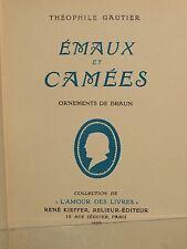 Émaux et camées T. GAUTIER ed. Kieffer ornements de BRAUN ill. Félix BRACQUEMOND
