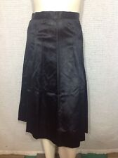 """Womens Vintage Skirt Black Damask Full 4.5"""" Hem S M"""