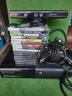 Microsoft Xbox 360 E 4GB Black Console Kinect, Controller & 9 Games