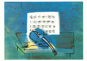 Kunstkarte:  Raoul Dufy - Die blaue Violine