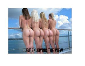 """Magnet Art Photo Fridge Hot Sexy Ass Girls Enjoying The View 3.5"""" x 4.5"""""""