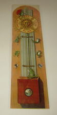 Old 1910's Antique French Game PRINT - FROG BAROMETER - Cartoon