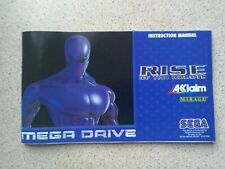 Rise Of The Robots Manual - Sega Mega Drive - NO GAME MANUAL ONLY (PAL)