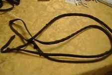 """brown leather reins braided 60"""" complete length each"""