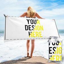 Custom Personalized Microfiber Rectangle Beach Towel Blanket Quick Dry Towels