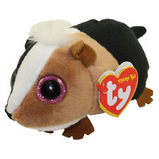 """TY Beanie Boos 4"""" Teeny Tys THEO Guinea Pig Stackable Plush Animal w/ Heart Tags"""