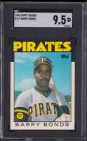 1986 TOPPS TRADED ROOKIE BARRY BONDS RC SGC 9.5