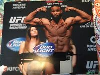 TYRON WOODLEY UFC MMA FIGHTER SIGNED AUTOGRAPH 8x10 PHOTO E w/ PROOF