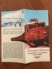 PIEGHEVOLE DEPLIANT Bergensbanen ligne de bergen railway OSLO Ferrovia Norvegia