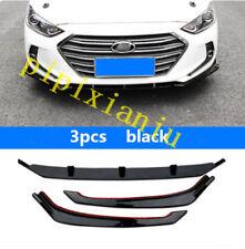 3x Black car Front Bumper Skirt Lip Body Kit cover for Hyundai Elantra 2017 2018