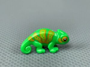 LEGO Chameleon Lizard Bright Green with Lime and Orange Stripes CMF Series 19