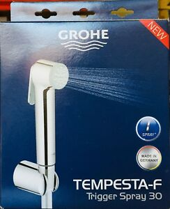 Grohe Douche Trigger Shower Hand Spray Hose Bracket Bidet Shattaf Kit Set 26353