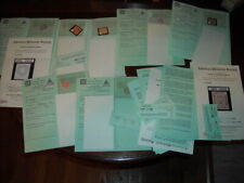 (18) Fake Counterfeit stamps with APEX certificates Italy, Argentina,  $11ea